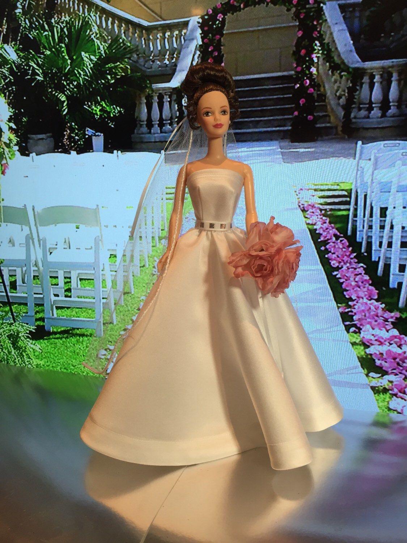 One of a kind wedding day Barbie bride, Barbie wedding