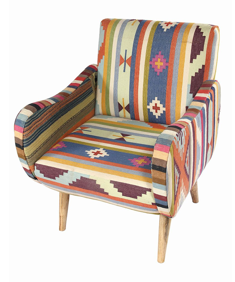 Printed Chairs Living Room Aztec Print Kilim Lounge Chair A This Would Be Awesome In My