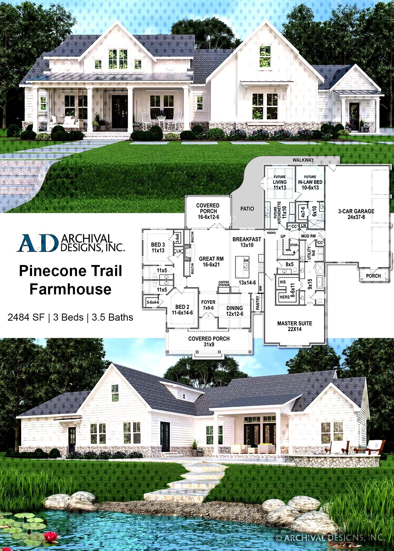 Pinecone Trail Farmhouse Plan