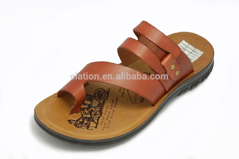 f587e8f0ecb71 DQ FB-02 comfortable men leather sandals without shoe crystal ...
