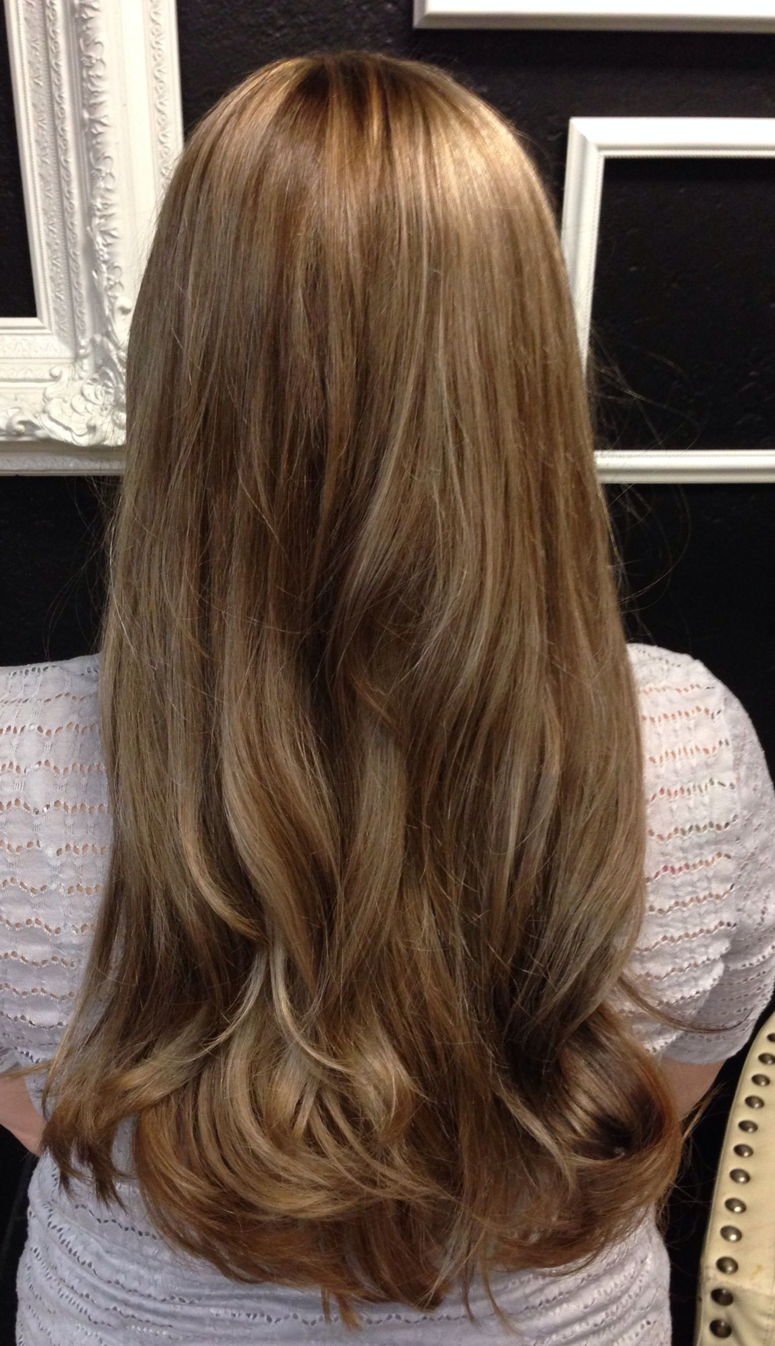Medium Brown With Beige Golden Tones Subtle Blonde Highlights