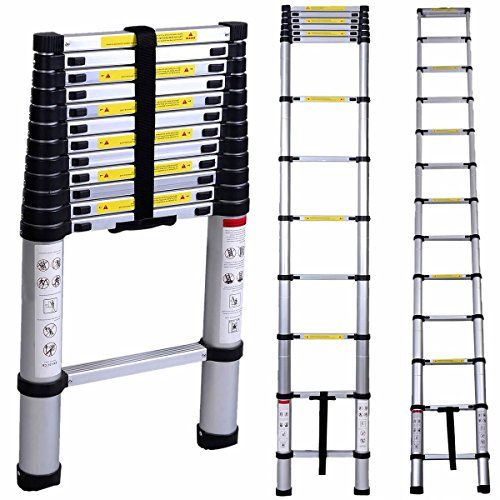 Wolfwise En131 12 5ft Telescoping Ladder Aluminum Telescopic Extension Tall Multi Purpose Details Can Be Discovered By Clicking On Th Aluminum Ladder Multi