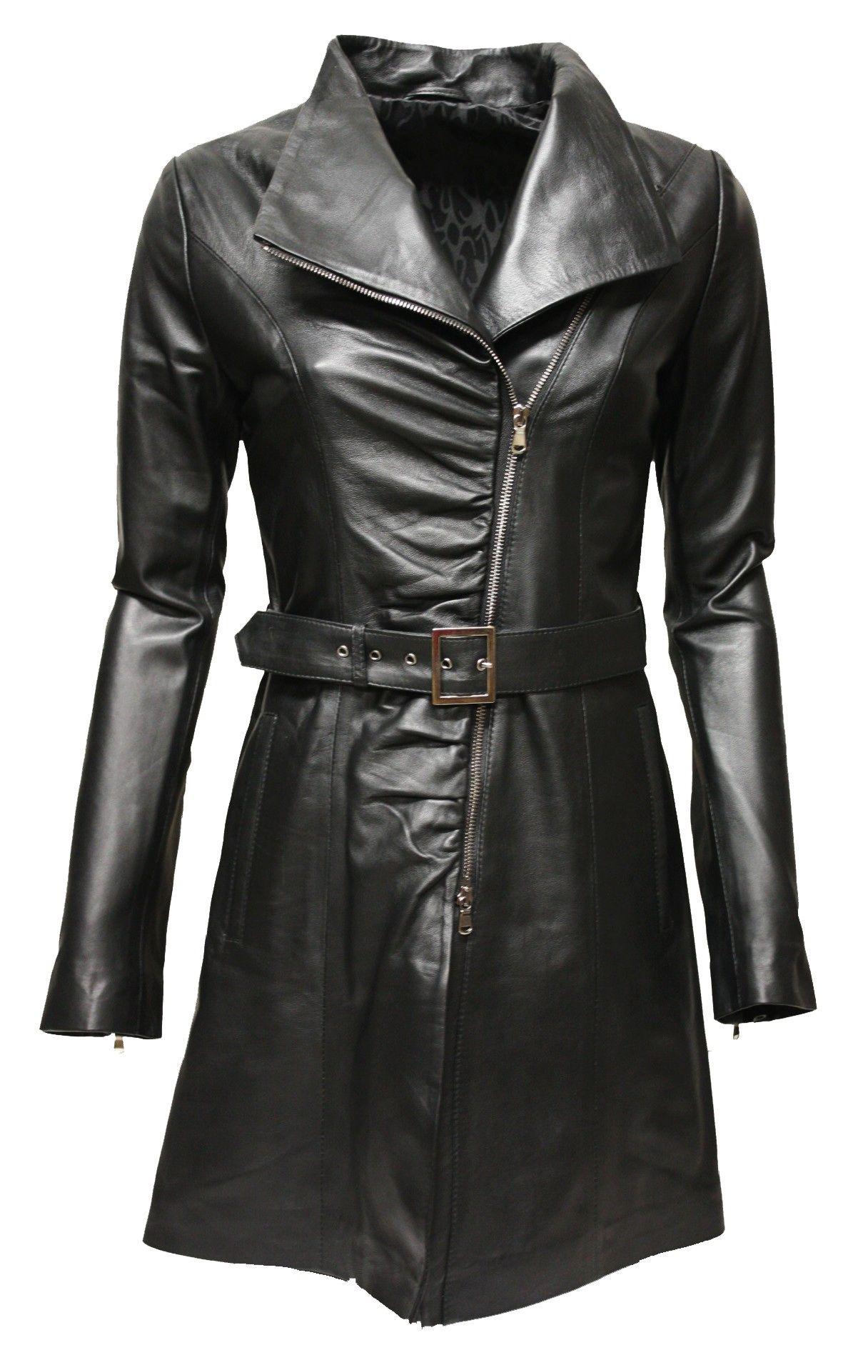 die besten 25 ledermantel damen ideen auf pinterest mantel navy damen schwarze jeansjacke. Black Bedroom Furniture Sets. Home Design Ideas