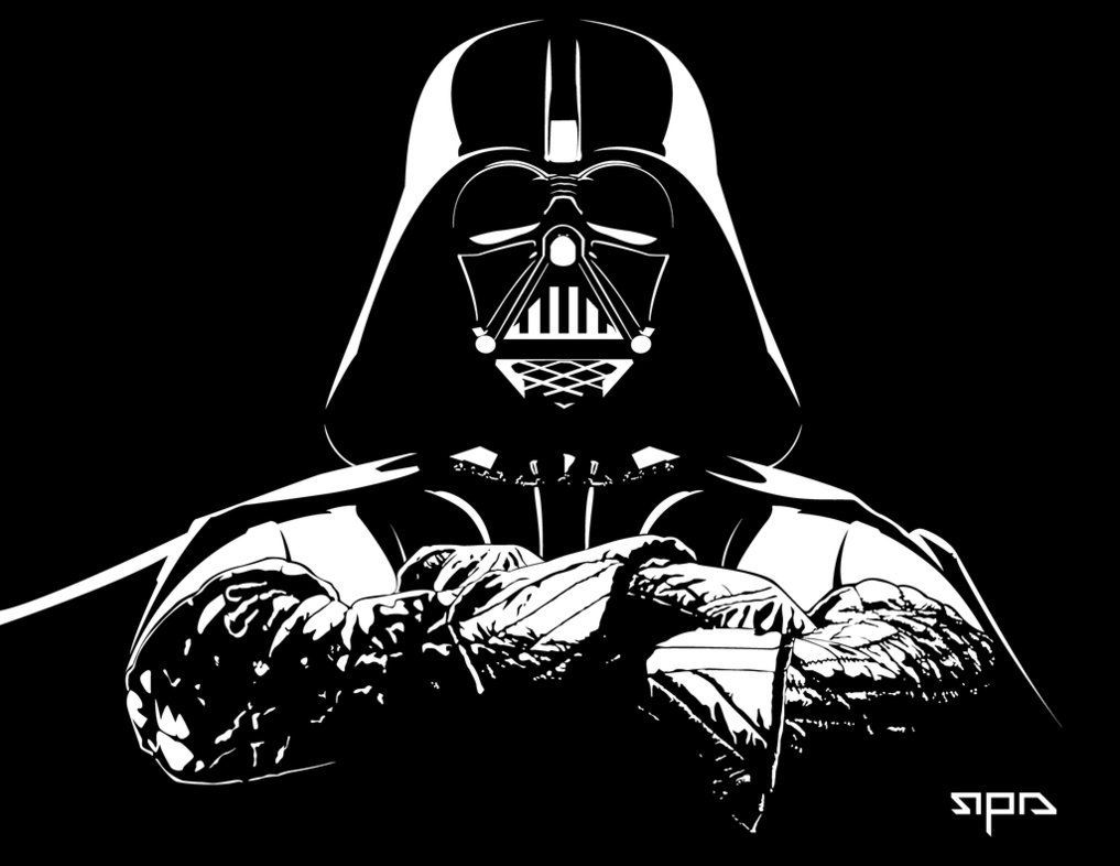 Darth vader darth vader pinterest darth vader for Darth vader black and white