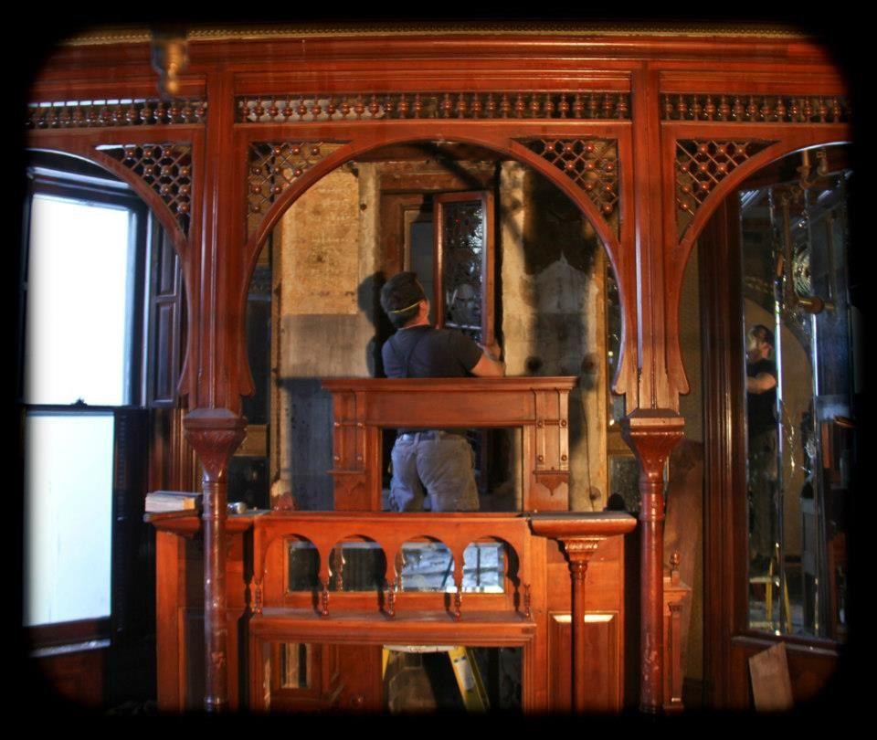 c. 1886 david c. cook interior mansion salvage in progress