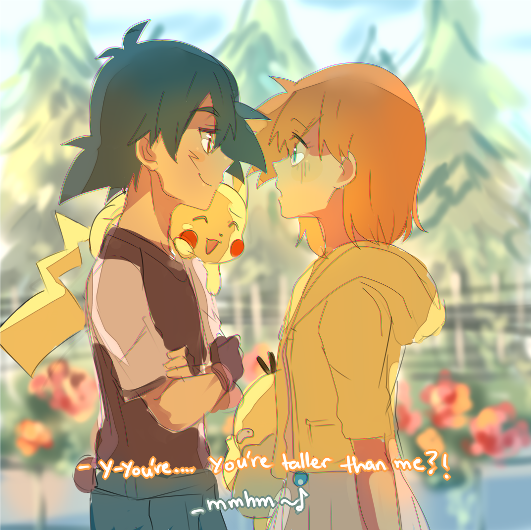 Beautiful Pokeshipping Mr Ash Ketchum And Dr Misty