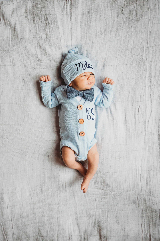 Boy Christmas Outfit,Newborn Boy Gown,Baby Boy,Hospital Baby Gown,Custom Name,Newborn Newborn Christmas Gown,Newborn Boy Coming Home Outfit