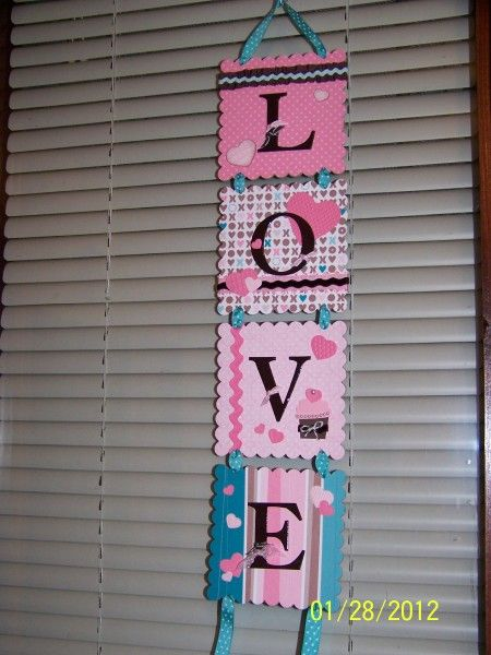 Stampin' Up!  Love Banner  Jenifer Jones  Valentine