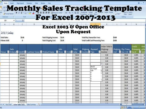 Monthly Sales Tracking Template Direct by TimeSavingTemplates ...
