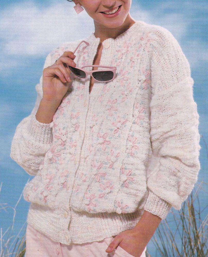 Vintage Original Knitting Pattern Instructions for Ladies Spring ...