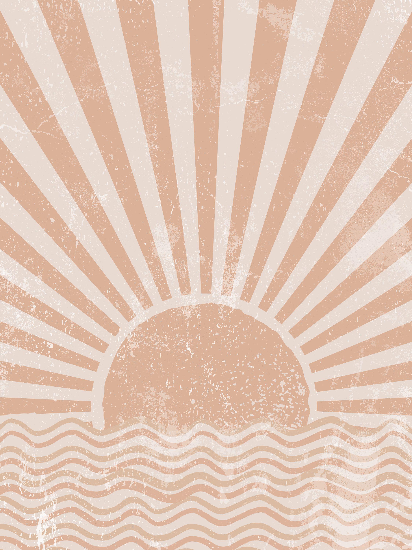 Sun Art Abstract Sun Wall Art Sunshine Print Sun Rise Art Etsy Sunburst Art Boho Poster Boho Wallpaper
