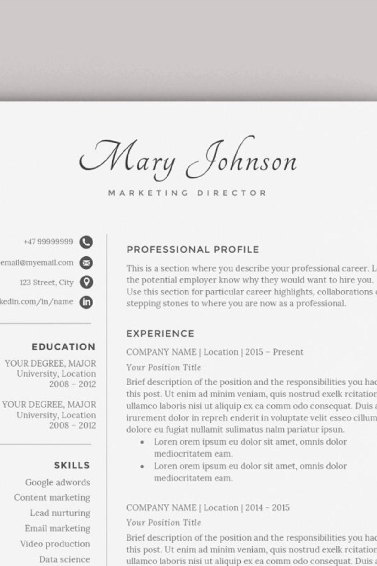 27++ Good looking resume template Format