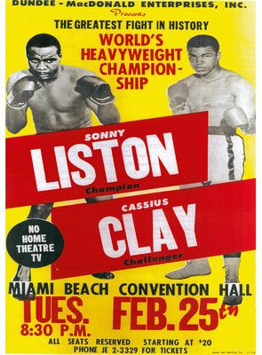 Muhammad Ali THE GREATEST Liston Knockout Boxing Poster Print FREE SHIPPING