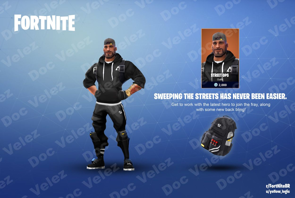 Skin Concept Need A Little Streetwear In The Mix Yeah Fortnite