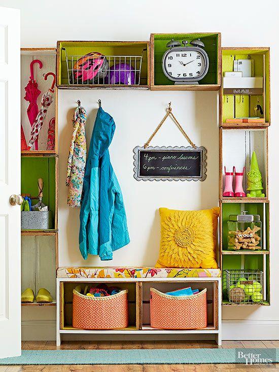 Pon orden a tu #hogar con el uso de cajas. ¡Fácil y barato! #Wooden #Boxes #Decor