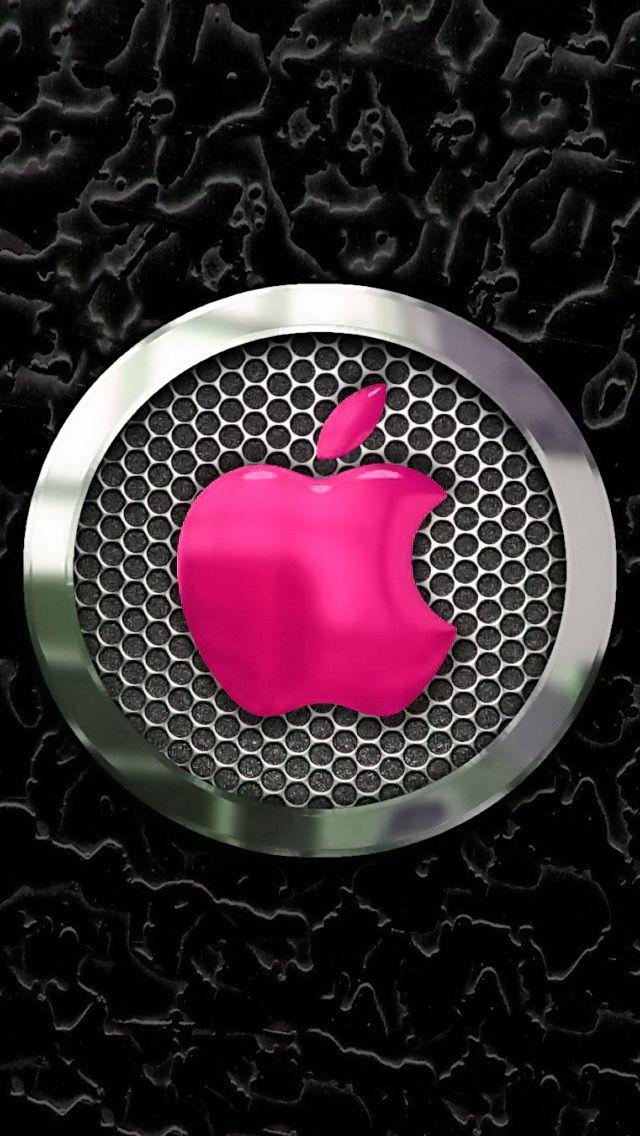 Chrome Pink Apple iPhone wallpaper Apple wallpaper