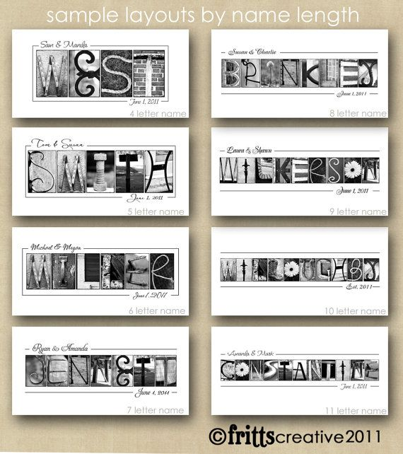 PERSONALIZED  WEDDING GIFT Alphabet Photography by FrittsCreative, $31.00