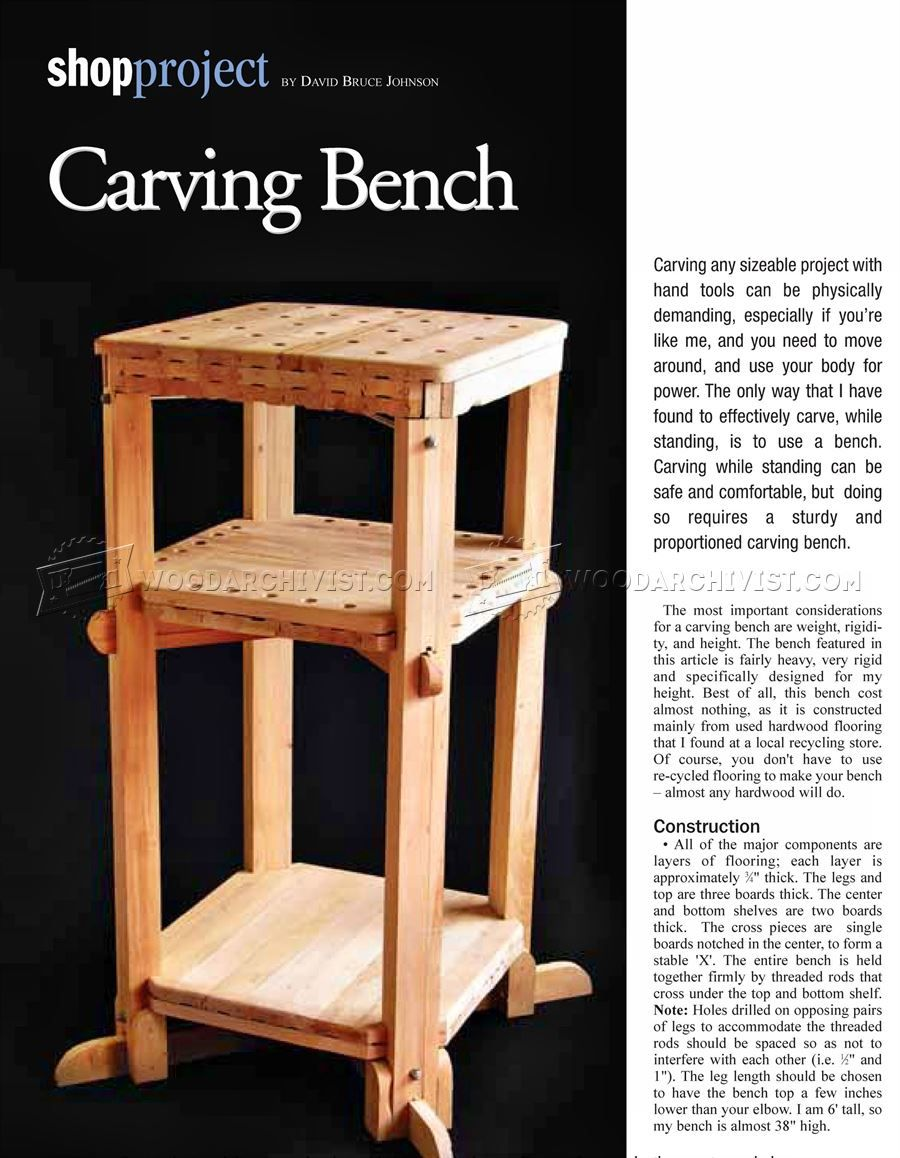 Wood carving bench plans