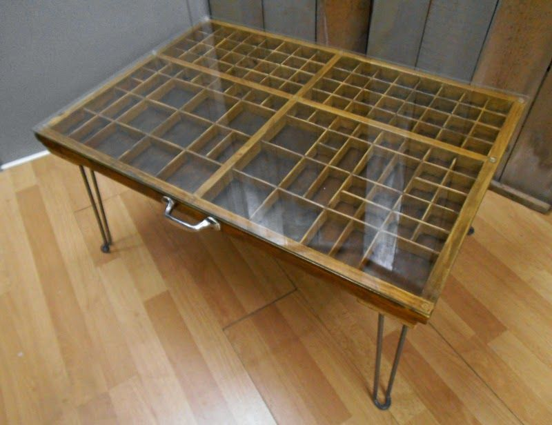 Printer's Drawer Coffee Table