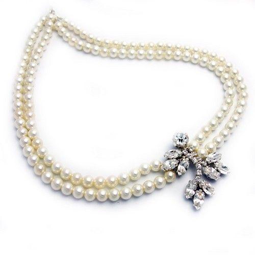 Astor Bridal Necklace - Double row | GWAG