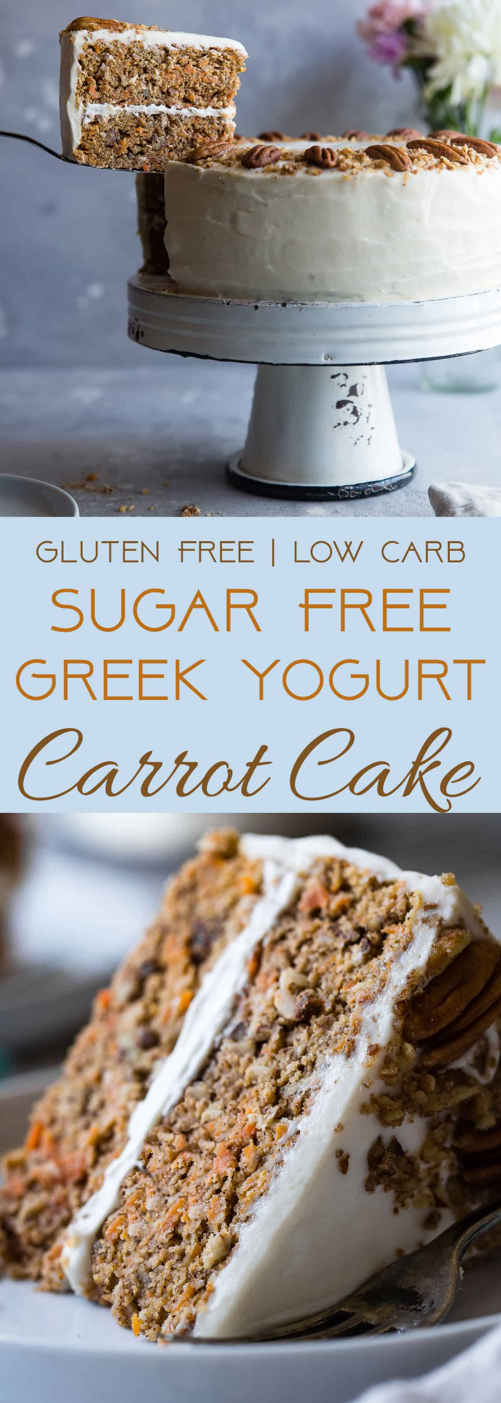 Healthy Gluten Free Sugar Free Carrot Cake | Food Faith Fitness ,  #Cake #Carrot #Faith #Fitness #Fo...