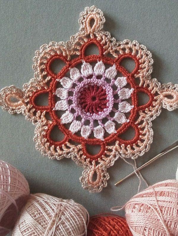 Crochet cuadrado de la abuela   Patrones   Pinterest   La abuela ...