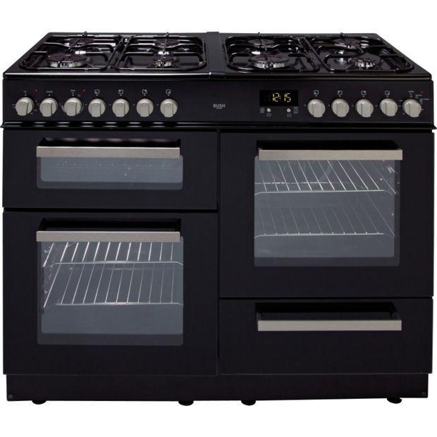 Buy Bush BCY100DFB Dual Fuel Range Cooker- Black at Argos.co.uk ...