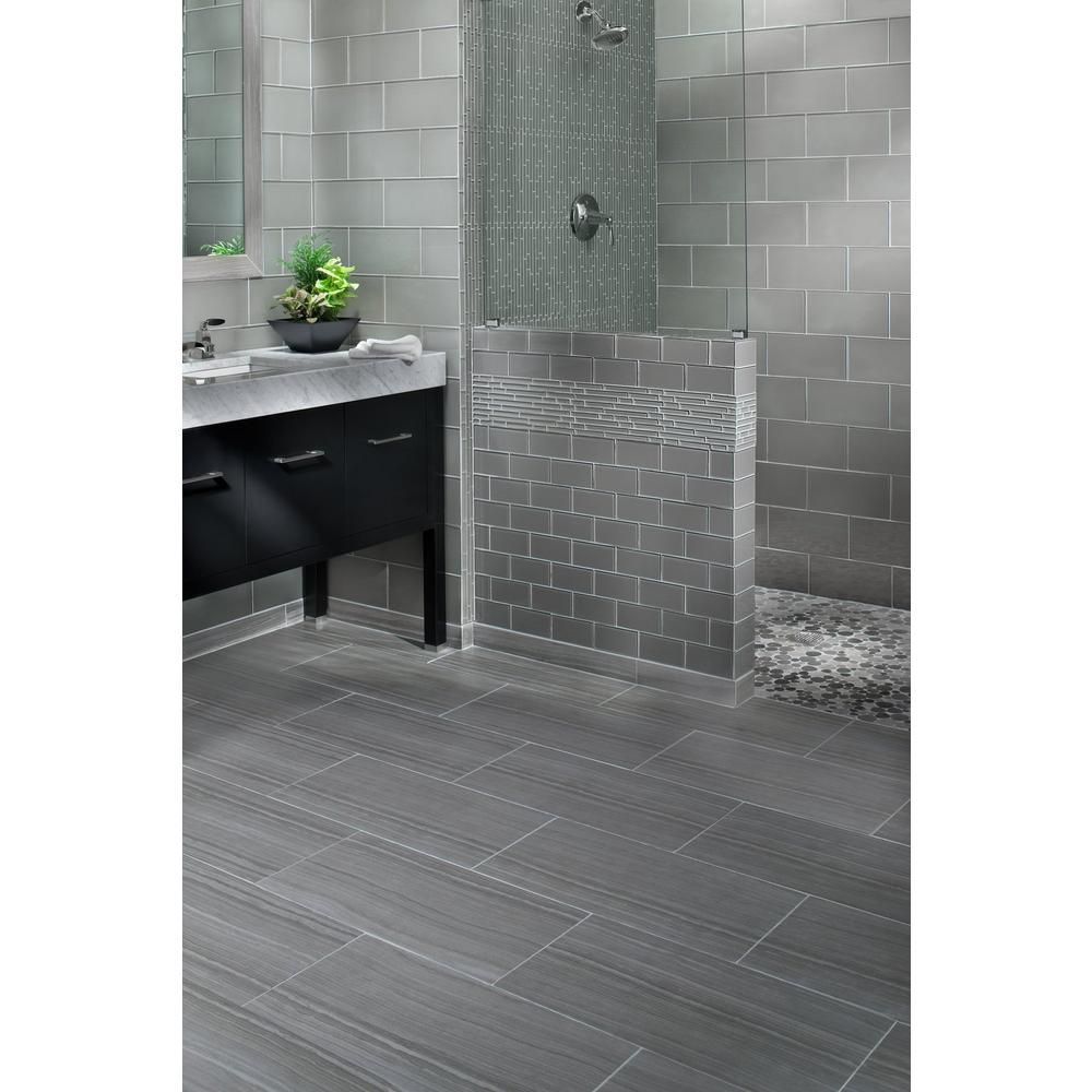 Eramosa Silver Porcelain Tile Floor Decor In 2020 Tile Bathroom Grey Bathroom Floor Gray Shower Tile