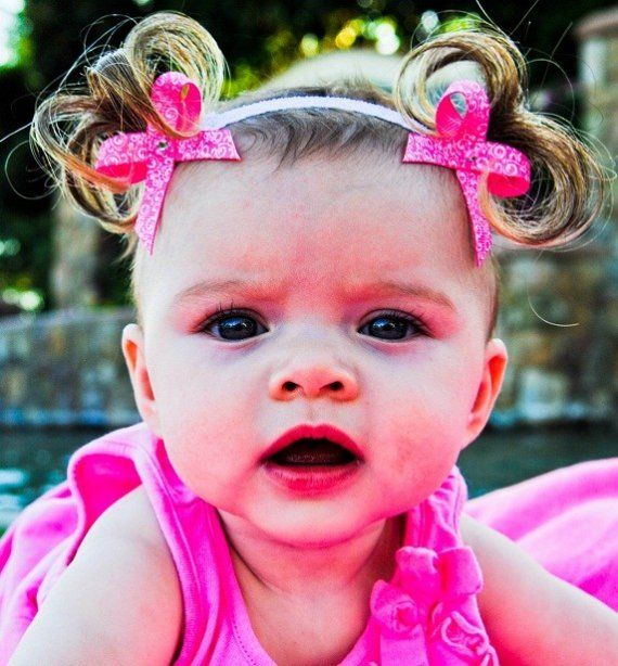 Bebe Doos Perfect Ponies Baby headband accessory with bows and fake faux pigtails hair PATENTED
