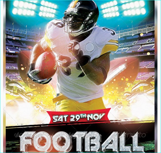 American Football Flyer - Party Flyer Templates For Clubs Business - football flyer template