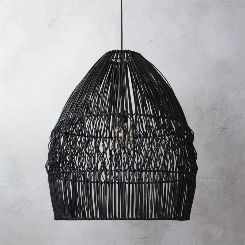 Cb2 archer black pendant light black pendant light wave design cb2 archer black pendant light aloadofball Gallery