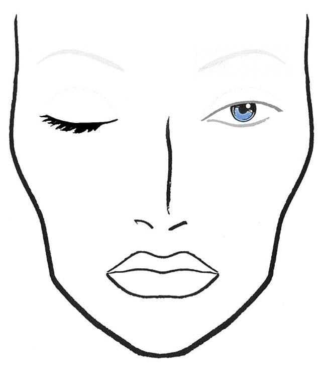 Blank Face Template For Makeup Blank mac face charts makeup – Printable Face Templates