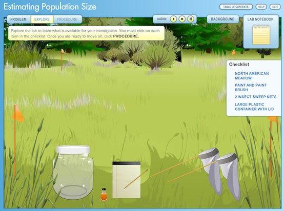 Virtual Lab Estimating Population Size Students Use Mark