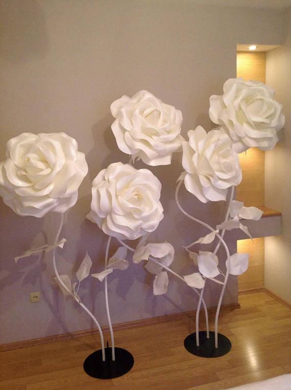 Large Flowers Giant Paper Flower Big Flowers Wedding Decoration