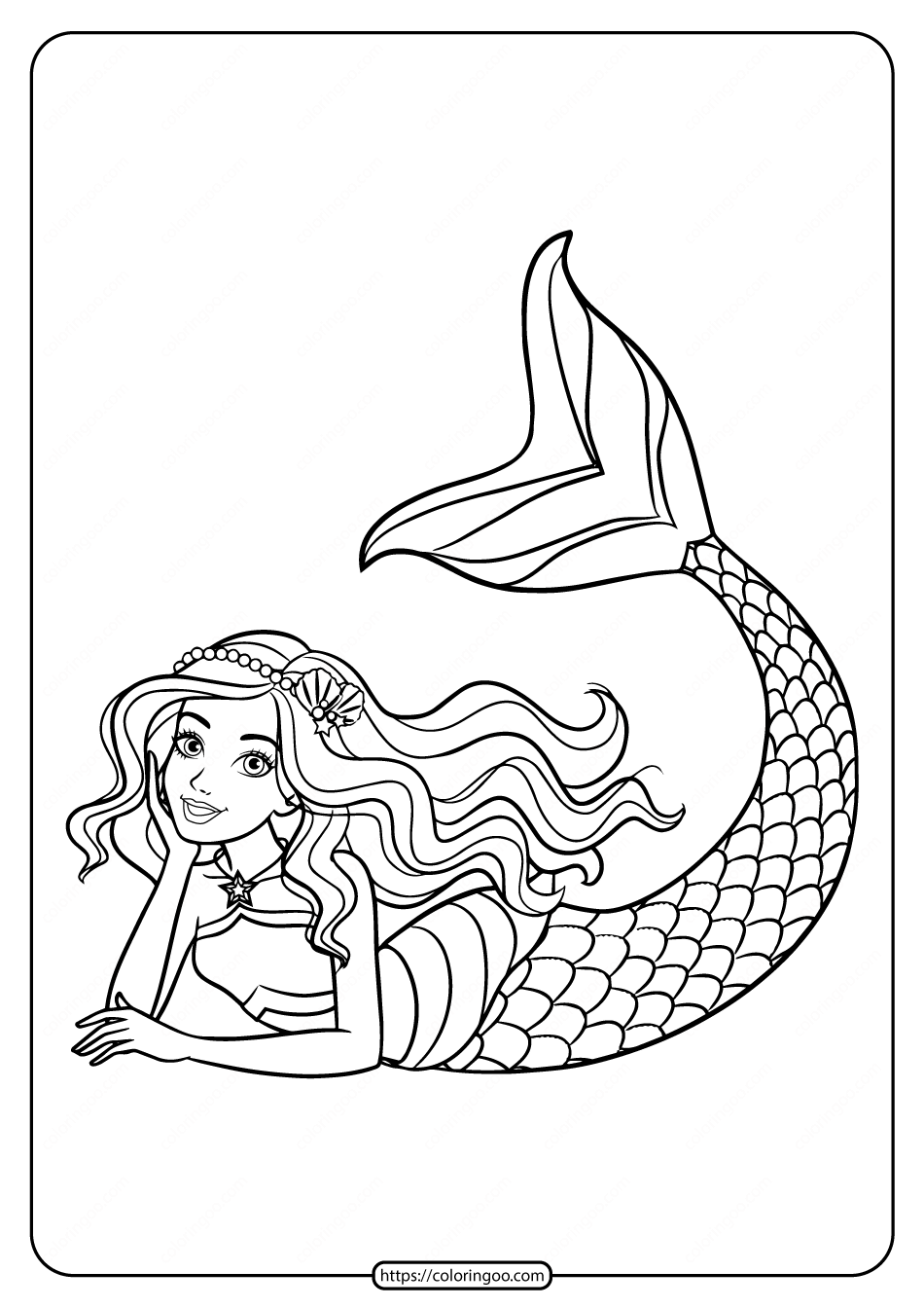 Barbie Princess Mermaid Coloring Pages In 2020 Barbie Coloring Pages Mermaid Coloring Princess Coloring Pages