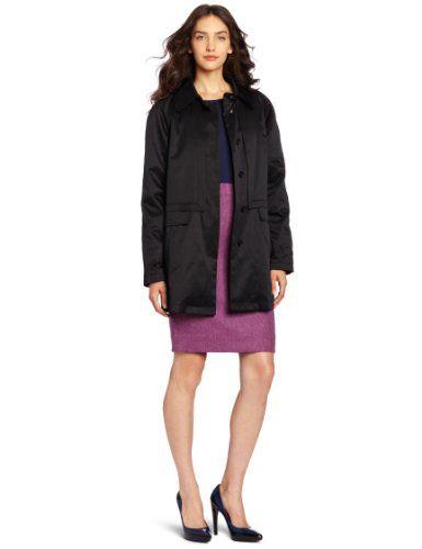 Kristen Blake Women's Fabulous Raglan Jacket, Black, Large fabulous raglan sleeve. aline silhouette. button out animal print liner. durable water resistant finish.  #KristenBlake #Apparel
