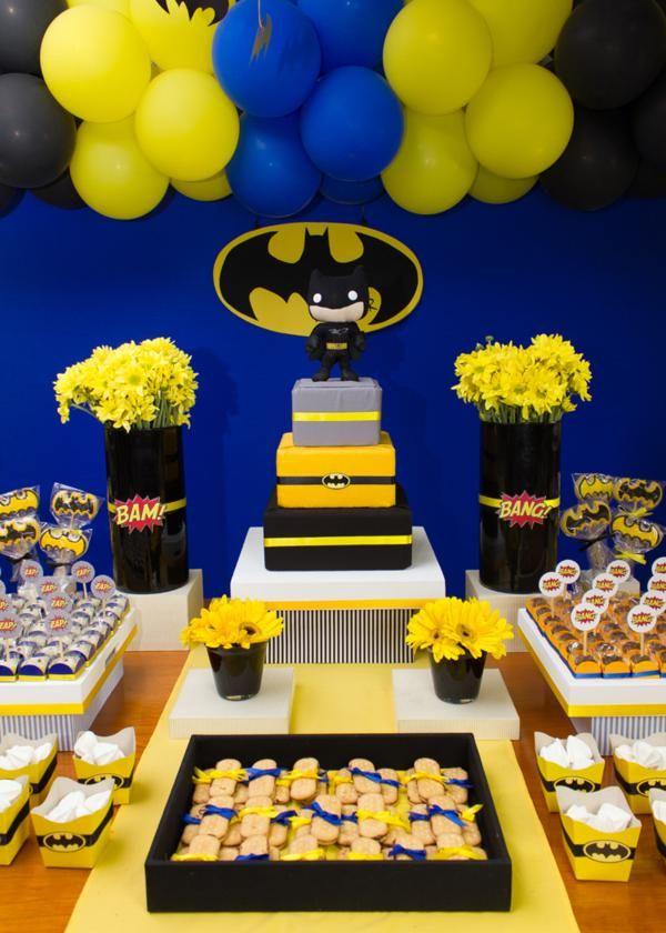 Decoracion Batman Batman En 2019 Fiestas De Cumpleanos Batman