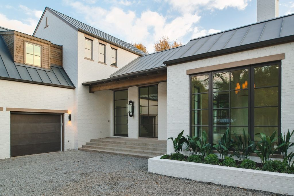 Transitional Exterior Of Home With Exterior Stone Floors