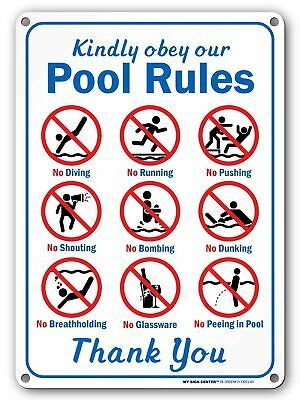 Free Printable List Of Swimming Pool Rules For Above Ground Pools Google Search Pool Rules Sign Swimming Pool Signs Pool Rules