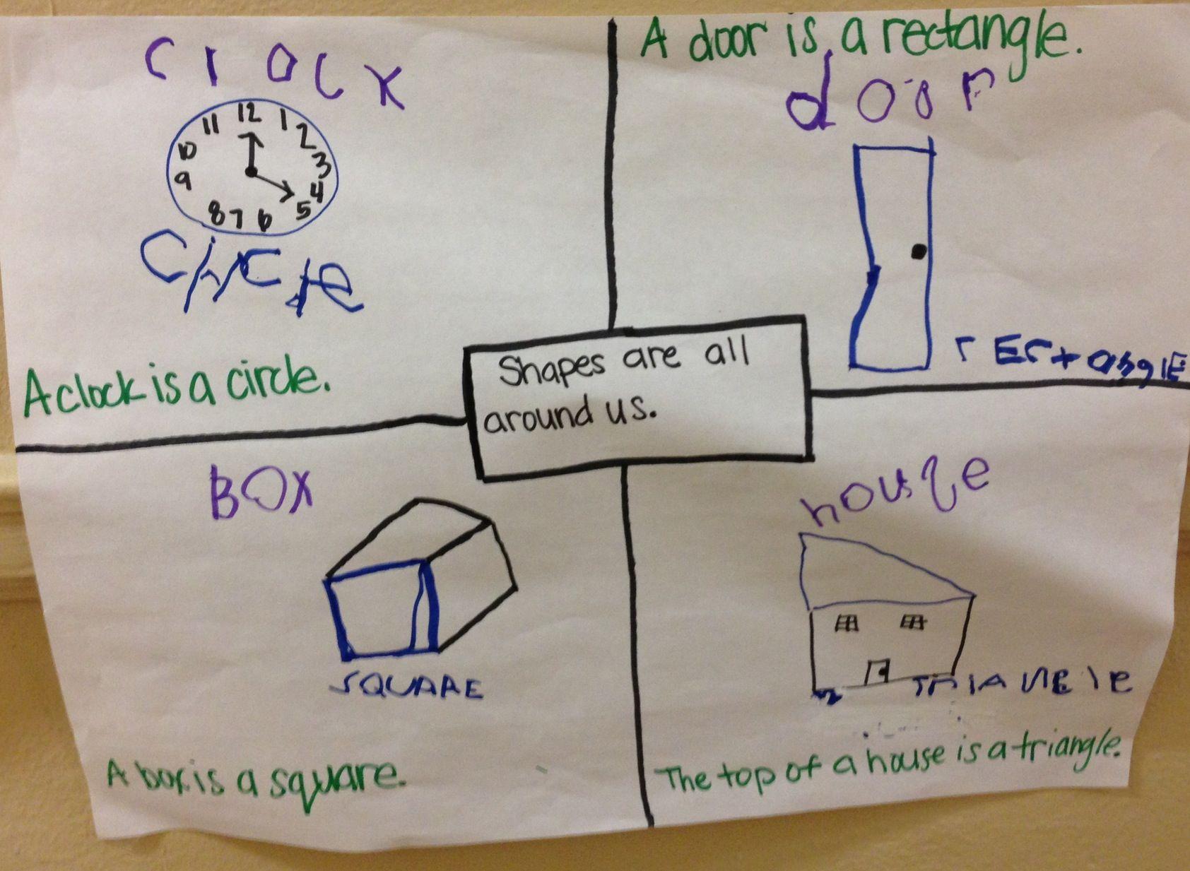 Shape Four Square Writing