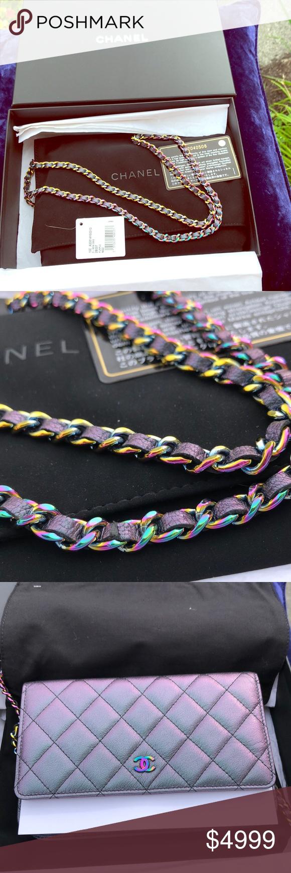 3fbbd5ea2e3b 🇮🇹Chanel🇮🇹Mermaid Iridescent Rainbow Chain WOC 🇮🇹CHANEL 🇮🇹MERMAID