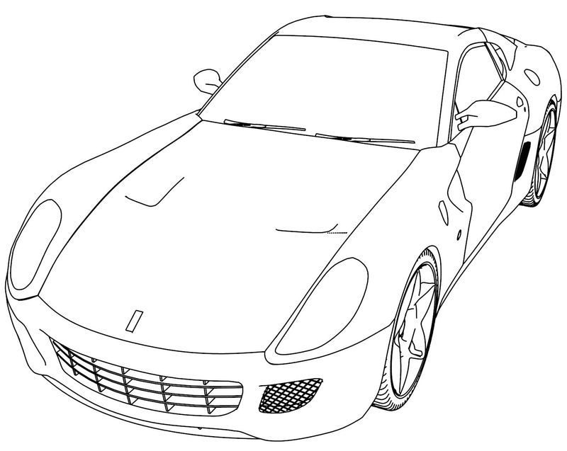 Ferrari 488 Gtb Sport Car Coloring Page Sports Coloring Pages Cars Coloring Pages Baseball Coloring Pages