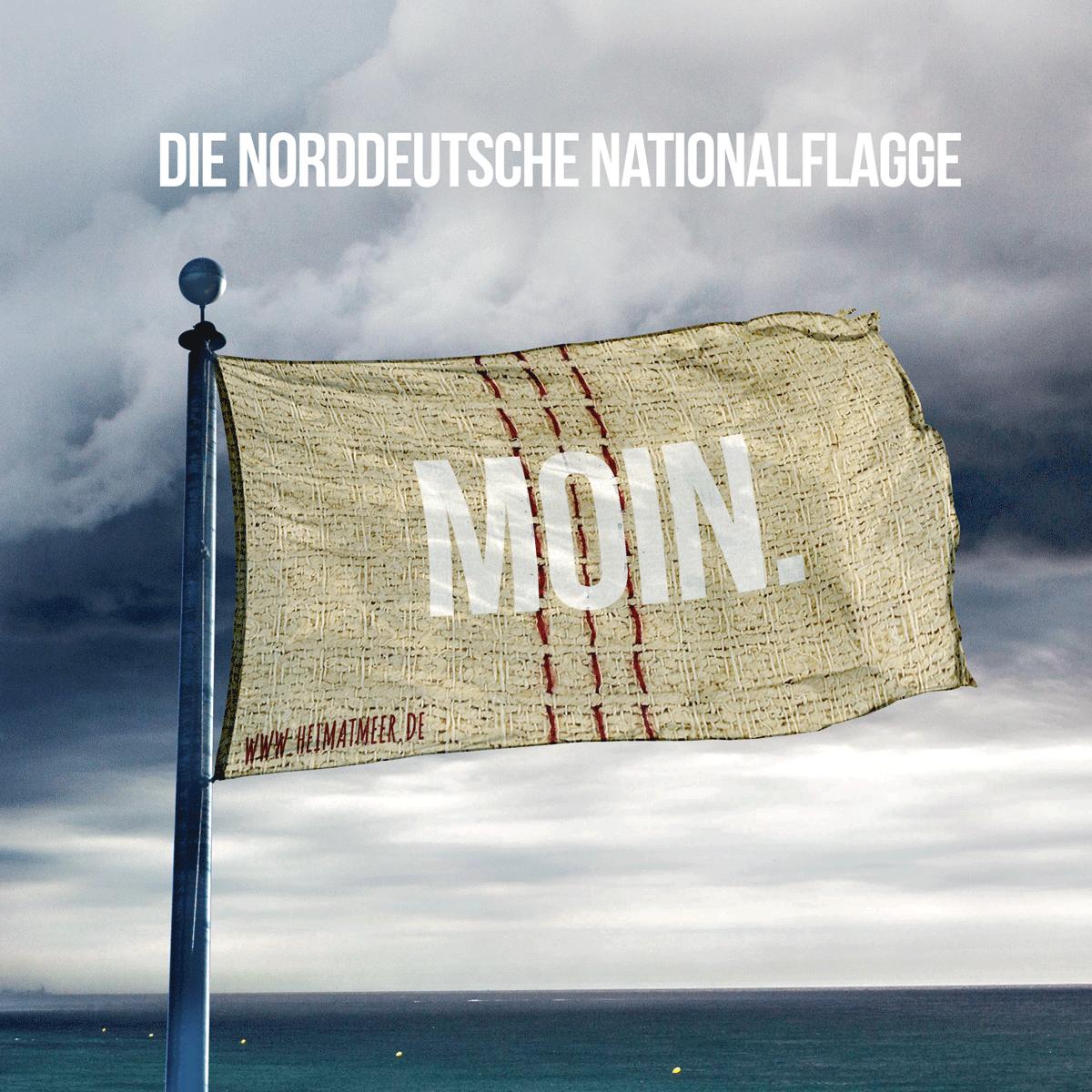 die norddeutsche nationalflagge moin spr che zitate vom meer maritime weisheiten. Black Bedroom Furniture Sets. Home Design Ideas