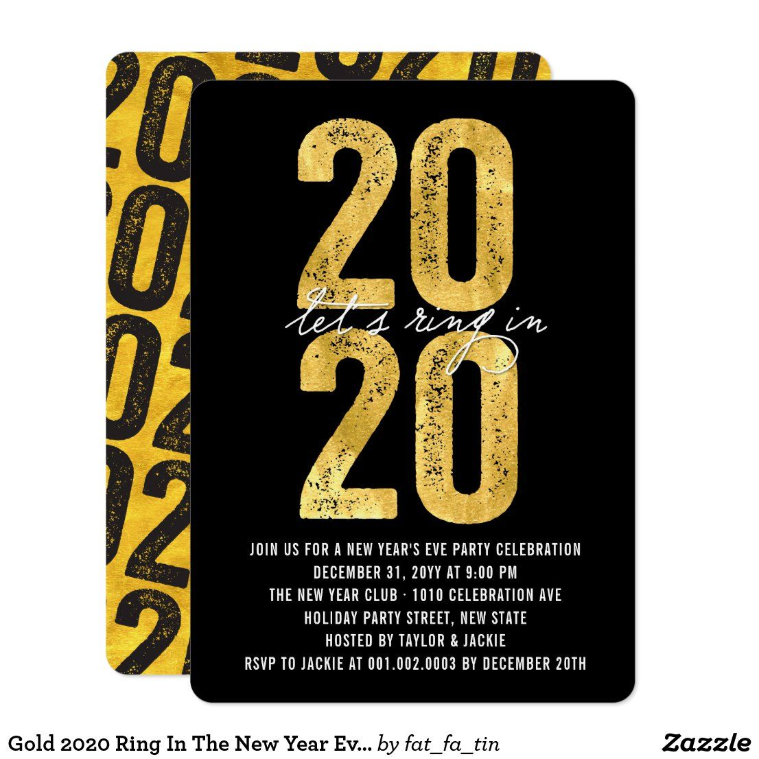 Gold 2020 Ring In The New Year Eve's Holiday Party