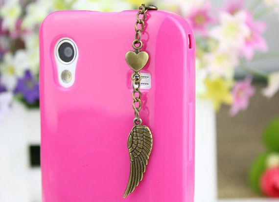 35mm Retro Bronze Wing  Dustproof Plug  for iphone by fashioncase, $3.99