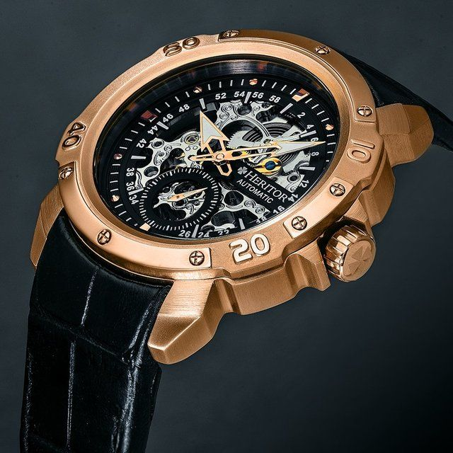 9359d4c76 Quality is the key to a long lasting timepiece. Every Heritor watch has an  automatic
