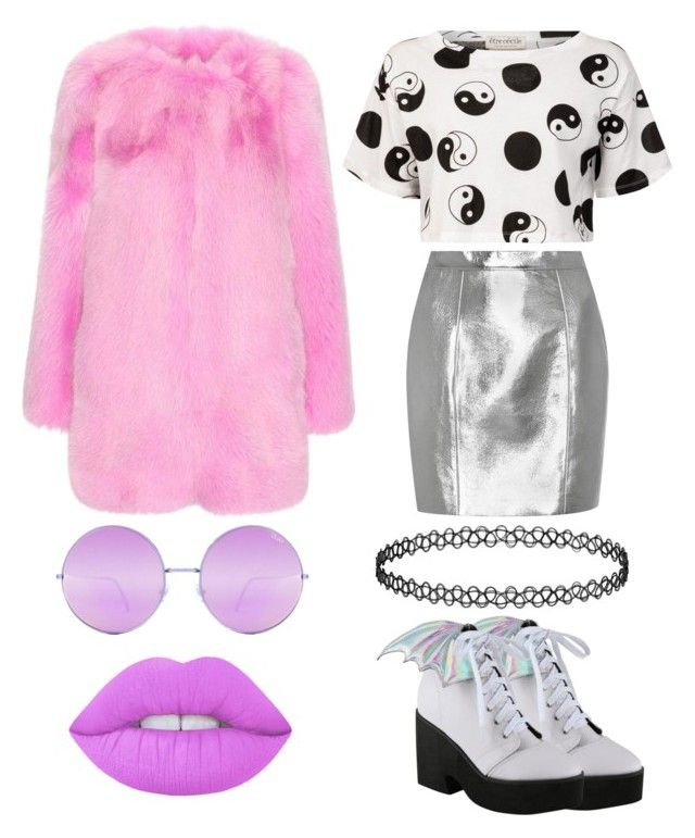 """""""Untitled #227"""" by bandsdestroyamylife on Polyvore featuring Gucci, Yves Saint Laurent, Iron Fist, Être Cécile, Lime Crime and Quay"""