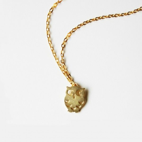 Owl Necklace - Silver or Gold #owl #necklace www.loveitsomuch.com