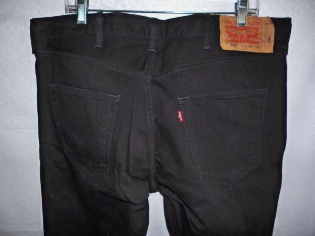 Levi s 501 XX Mens Black Jeans w Black Buttons Size 38 X 32  Levis  Relaxed 1a46088d4