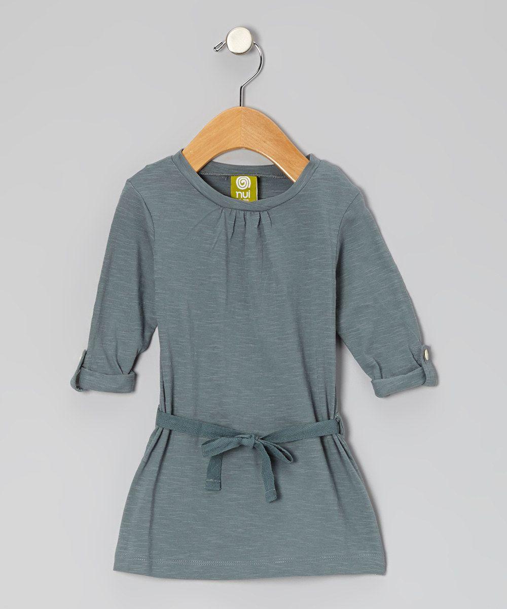 Teal Charlie Organic Swing Dress - Toddler & Girls | zulily